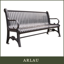 Arlau bench arc-shaped modern design outdoor furniture bar set,curved park bench,outdoor garden chair