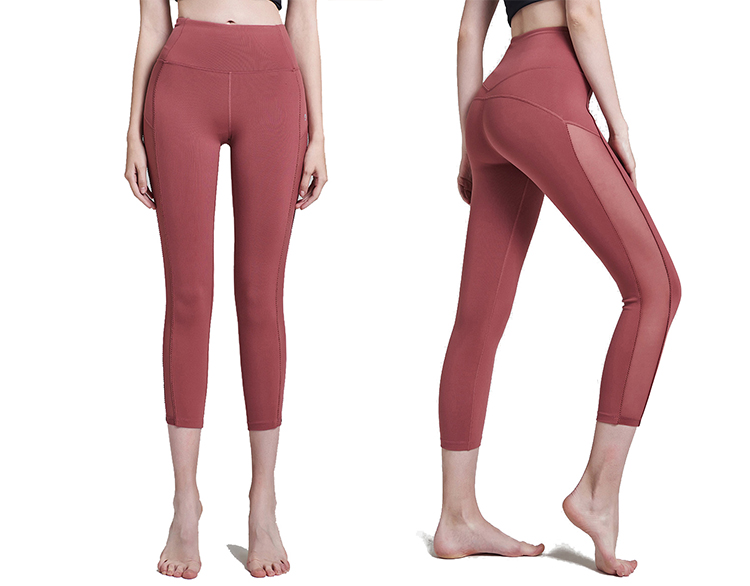 High Quality Cropped Tight Custom Sexy Women Yoga Pants Leggings Wholesale