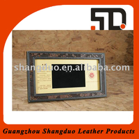Gold Supplier Cheap Small Leather Picture Frame with Custom Size