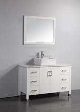 Simple style design wood top end bathroom vanity