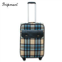 Cathylin new arrival inside trolley cheap good quality pu leather vantage elegance luggage