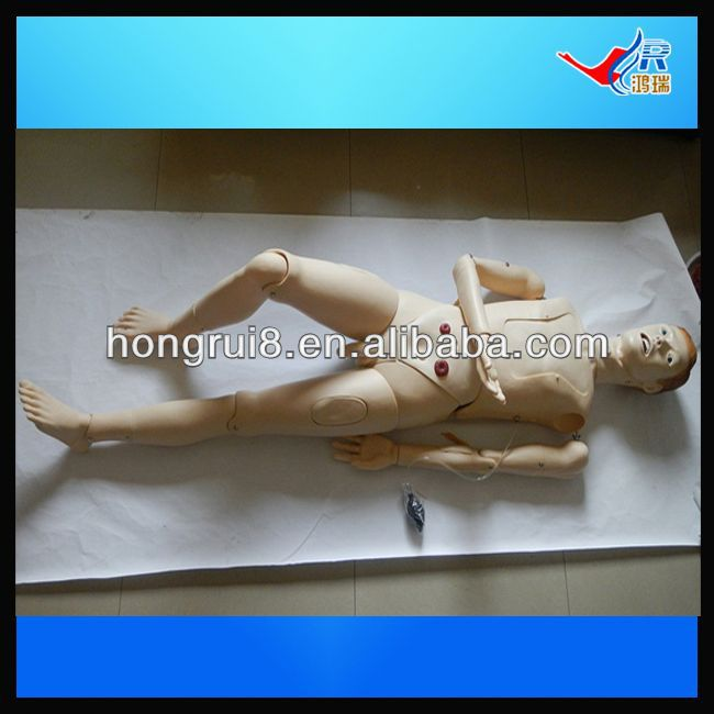 ISO Highly Detailed Male Nursing Manikin, Advanced Patient Care Training, nursing care