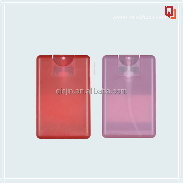 plastic credit card 10ml 20ml spray perfume bottle and hand sanitizer