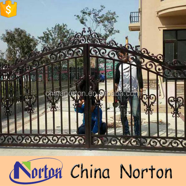 handmade customized residential new design iron gate for house NT-WID005