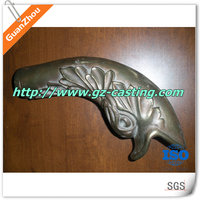 Alibaba express china cast foundry oem castom made aluminum sand casting art and craft products metal fish sculpture