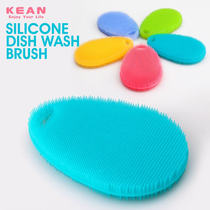 China manufacturer custom food grade silicone shower body scrubber