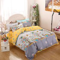 Hottest china factory direct sale indian silk bedding set Golden supplier