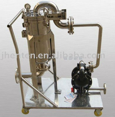 Stainless Steel Movable Bag Filter Housing With Pump
