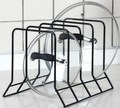 4 Compartments Kitchen Metal Cutting Board And Pot Lid Storage Rack