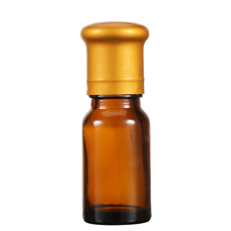 Amber Color Empty Cosmetic Packaging Glass Bottle With Screw Cap