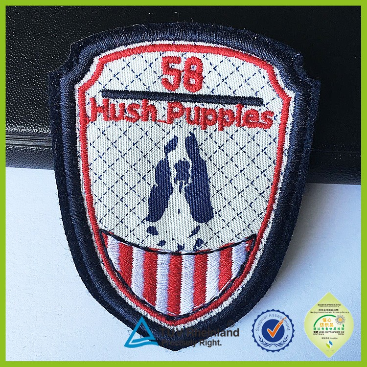 Personalized designs clothing label embroidery machine badges