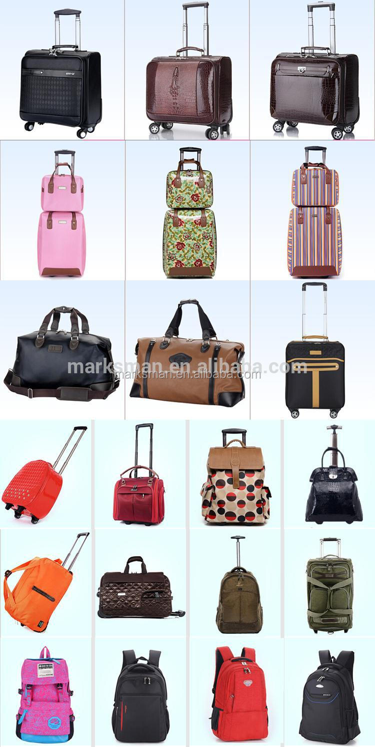 2015 high quality PC colorful durable luggage bag direct manufacturer