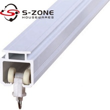 Cheap pvc curtain track rail with plastic curtain rail runner