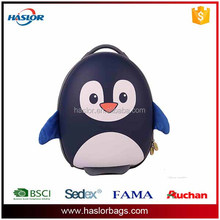 3D EVA animal cute penguin picture for children school bag with wheels cartoon