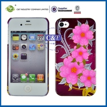 sublimation cell phone case/cover printing for apple iphone 4 back cover replacement