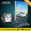Edgelight Aluminum fabric smart edge lit picture frame light box with low price ultra thin