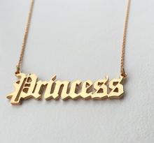 Dainty Personalized Old English Font Name Necklace Choose any name-Birthday Gift
