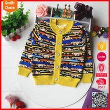 2017 new arrival fashion knitted flower pattern baby boy sweater designs