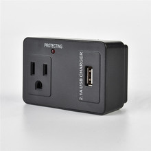 ETL-Listed Black Color travel adapter with usb