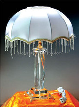 Antique crystal chandelier table lamp for home decoration