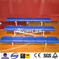 Ango light-duty Movable Bleacher, Mobile Aluminum Bench, Mobile Bleacher Seats