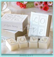Wedding Baby Shower Favors Book Love Art Candle