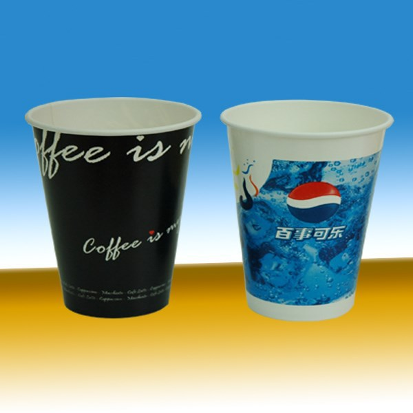 12oz/16oz printed disposable paper cups cheap cold drink paper cups