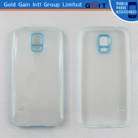Back Cover Case PC And TPU Transparent Case For Samsung S5 I9600, For Galaxy S5 I9600 PC+TPU Case Transparent