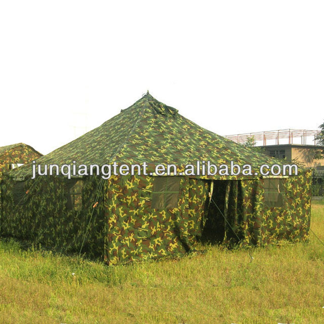 12 man heavy duty waterproof camouflage canvas camping military army tent with steel frame