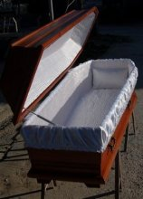 : Hand-made Burial Coffin
