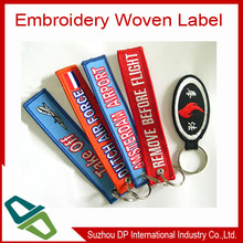Custom woven label/woven label with key chian