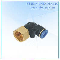 "Pneumatic Female Elbow Air Fitting 8mm - 1/4"" Inch Thread Push In Quick Fitting Nylon Joint PLF8-02"