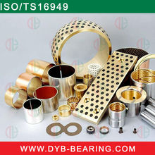 stainless steel sintered bronze bimetal slide bushing,dry split oilless du bush, china brass copper slide bearing manufacturer