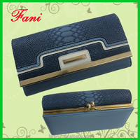 2015 fashional design genuine snake leather wallet for woman