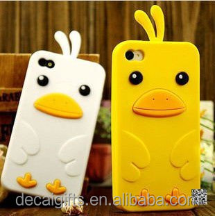 Custom lovely 3d cartoon animal shape phone case, silicone soft cell phone case