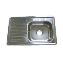 (KS-003)good price stainless steel sink,rectangle shape small kitchen sink,left or right bowl scrub sink