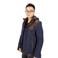 2015 Newest High Quality Plaid Hooded Fleece Casual Men Jacket Manufacturer