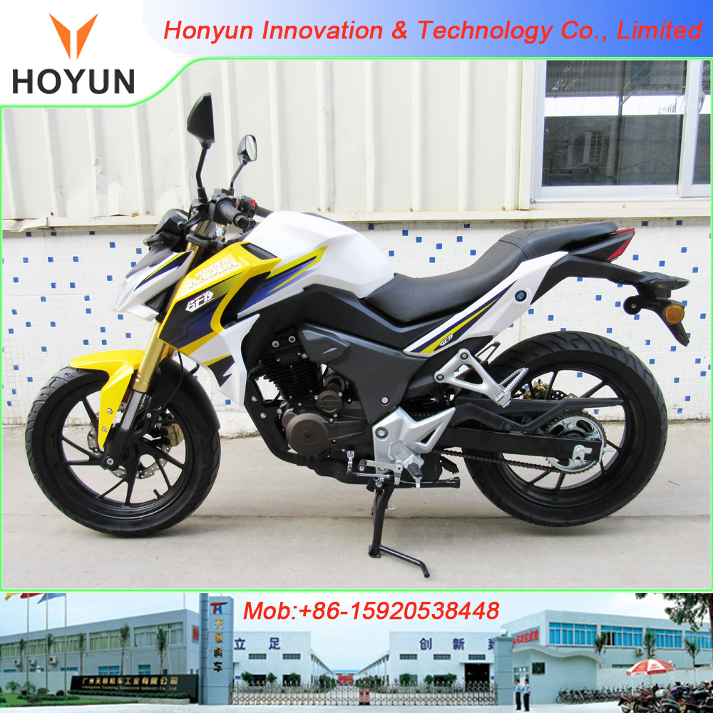 new design made in Guangzhou HOYUN CBF190 CB190R CBR190 racing motorcycles
