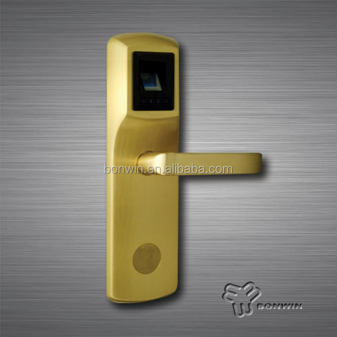 biometric password keypad electronic safe handle door lock for apartment/hotel/office BW707SB-C