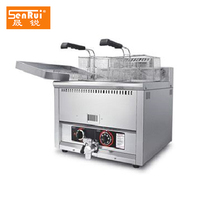 Commercial kitchen countertop machine time limiter Gas potato Chicken fryer with chips oil filter plate and valve