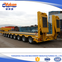 Over-weight 40 tons Skeleton Truck Semi Trailer with Axles for Sale (Customized)