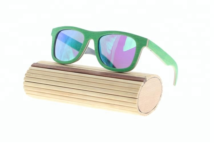 skateboard wooden frame material and polarized lenses wood made sunglasses