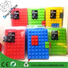 A5/A6/A7 3D silicone legos copertina del libro note books Building Block Silicone Notebook Cover