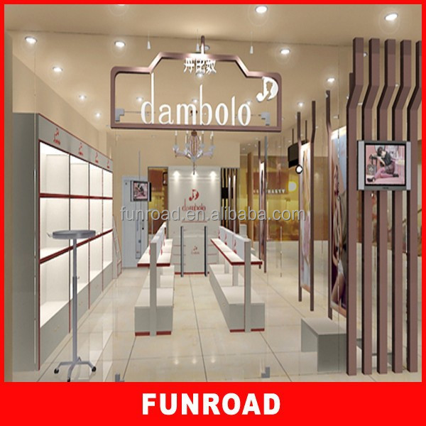 Customized free design 2015 MDF bag display store for hot sale