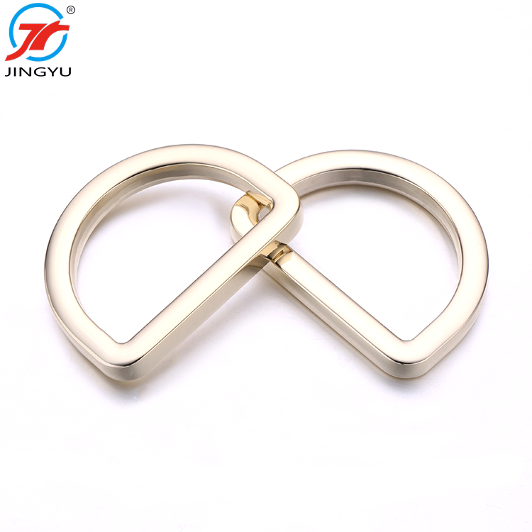 Hot selling top quality bag metal strap <strong>D</strong> buckle bag accessories <strong>D</strong> ring