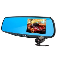 HD 720P car black box with smart design dual channel dash cam