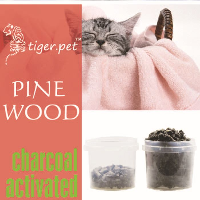 bulk 100% biodegradable activated charcoal pine wood cat litter hot sale