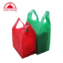 promotional 100 polyester non woven fabric carry vest bag price