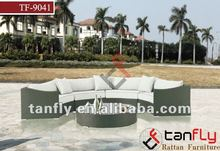 2015 hot design rattan round sofa set wicker living room sectional sofa outdoor furniture