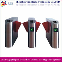 Intelligent pedestrian Industrial entrance speed gate flap turnstile with swiping card camera system